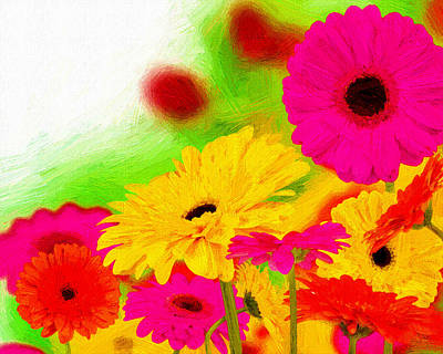 Flowers Painting - Colors In Focus by VRL Art