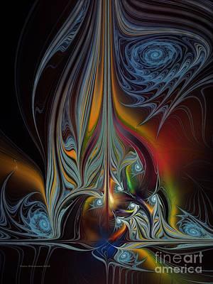 Spatial Digital Art - Colors In Motion-fractal Art by Karin Kuhlmann