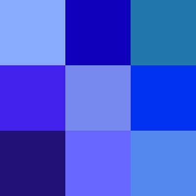Colors Of Blue Print by Karon Melillo DeVega