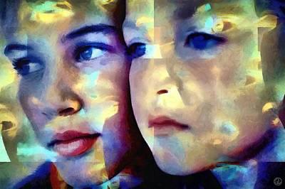 Women Together Digital Art - Colors Of Love by Gun Legler