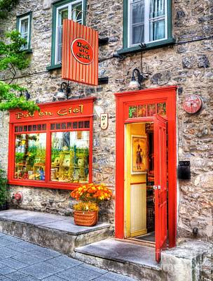 Storefront Photograph - Colors Of Quebec 2 by Mel Steinhauer