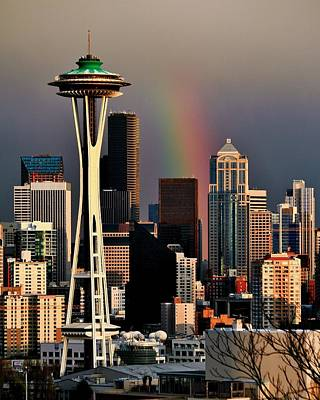 Colors Of Seattle Print by Benjamin Yeager