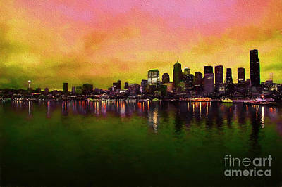 Colors Of Seattle Print by Eric Chegwin