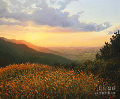 Horizon Painting - Colors Of The Light by Kiril Stanchev