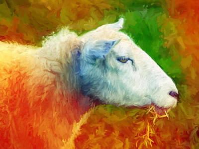 Painted Painting - Colorsheep by Lutz Baar