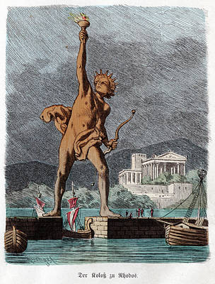The Sun God Photograph - Colossus Of Rhodes by Cci Archives