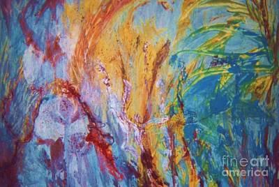 Colourful Abstract Print by Ann Fellows