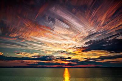 Quebec Photograph - Colourful Cloud Collision by Matt Molloy