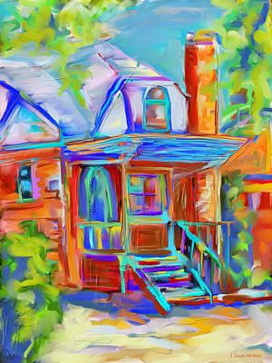 Colourful Cottage Print by Jo-Anne Gazo-McKim