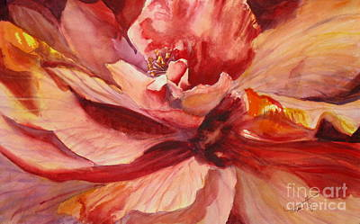Vivid Colour Painting - Colourful Hibiscus by Mohamed Hirji