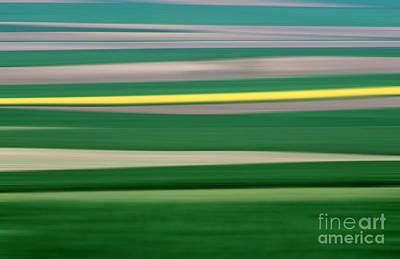 In A Row Photograph - Colourful Landscape by Bernard Jaubert
