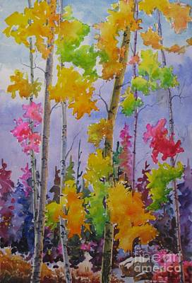 Colours Of Fall Print by Mohamed Hirji