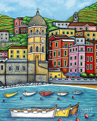 Colours Of Vernazza Print by Lisa  Lorenz