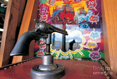 Colt Gun In Antiques Shop Print by Adam Sylvester