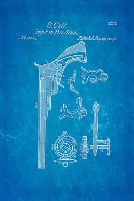 1839 Photograph - Colt Pistol Patent Art 2 1839 Blueprint by Ian Monk