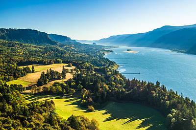 Columbia River Gorge - River Overlook Photograph Print by Duane Miller