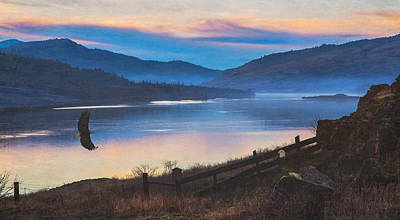 Columbia River Gorge Eagles Print by Angie Vogel