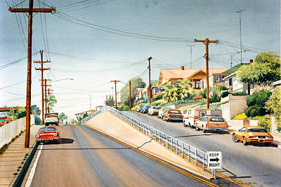 Columbia Street Middletown Print by Mary Helmreich