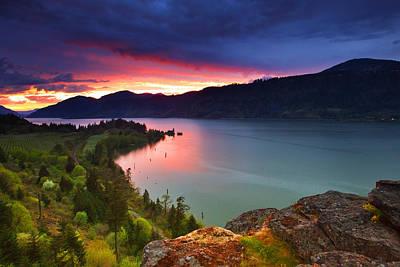 Northwest Photograph - Columbia Sunset by Darren  White