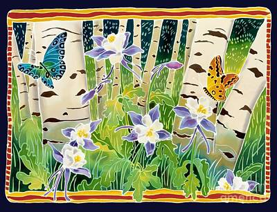 Columbine In The Aspen Print by Harriet Peck Taylor