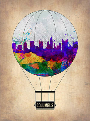 Columbus Air Balloon Print by Naxart Studio