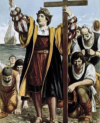 Columbus, Christopher 1451-1506. Sailor Print by Everett