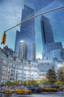 New York - Columbus Circle - Time Warner Center Print by Marianna Mills