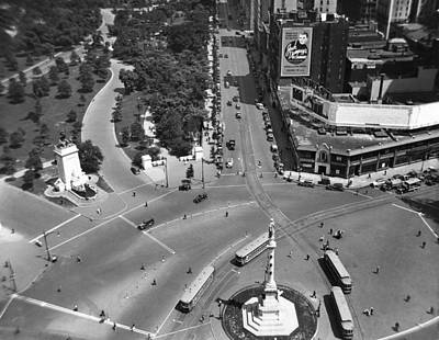 Columbus Circle Print by Underwood Archives