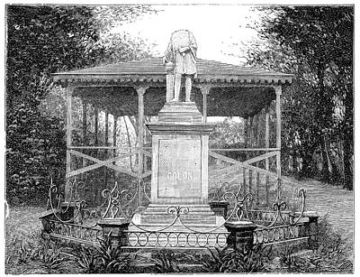 Columbus Statue Print by Science Photo Library