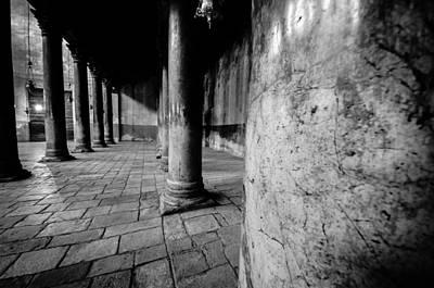 Columns At The Church Of Nativity Print by David Morefield