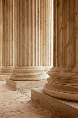 Columns At The Us Supreme Court Print by Brian Jannsen