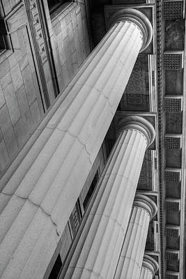 Montreal Landmarks Photograph - Columns On Quebec Court Of Appeals by David Chapman