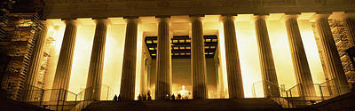 Lincoln Memorial Photograph - Columns Surrounding A Memorial, Lincoln by Panoramic Images