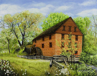 Colvin Run Mill Great Falls Va On A Spring Afternoon Original by Gail Darnell