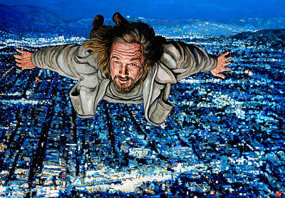 Lebowski Painting - Come Fly With Me by Tom Roderick