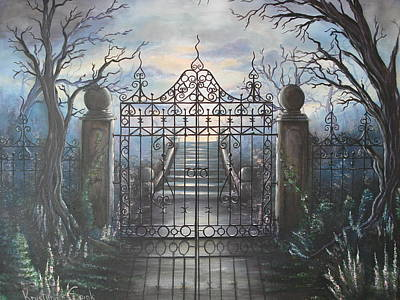 Haunted Mansion Painting - Come Forth by Krystyna Spink