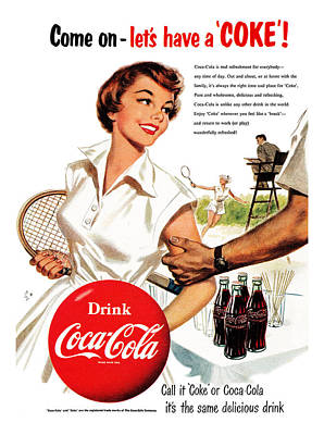 Sports Digital Art - Come Let's Have A Coke by Georgia Fowler