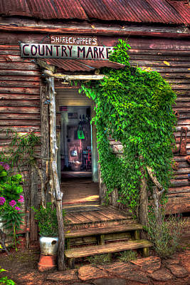 Sharecroppers Country Market Come Right In Print by Reid Callaway