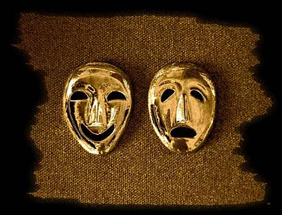Despair Digital Art - Comedy And Tragedy Masks 1 by Will Borden