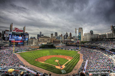 Tigers Print featuring the photograph Comerica Park Home Of The Tigers by Shawn Everhart