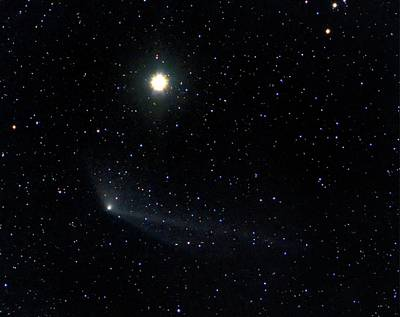 Comet Photograph - Comet C2011 L4 With The Star Kochab by Damian Peach