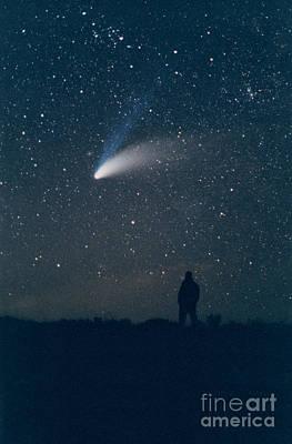 Comet Hale-bopp Print by John Chumack