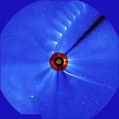 Comet Photograph - Comet Ison by Esa/soho/sdo/nasa