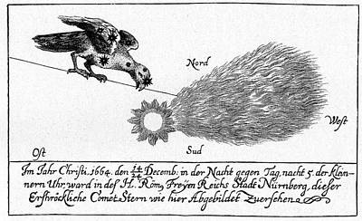 History Of Science Photograph - Comet Of 1664-5 by Cci Archives