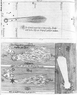 Comet Of 1664-5 Print by Royal Astronomical Society