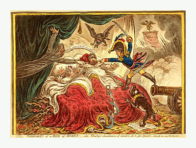 Comfort Drawing - Comfort Of A Bed Of Roses, Gillray, James by English School