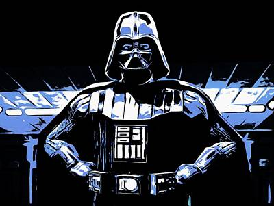Dark Side Mixed Media - Comic Book Darth Vader by Dan Sproul