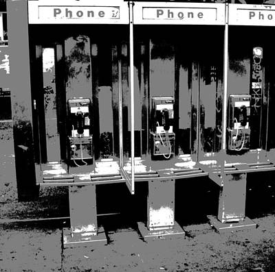 Comic Book Phone Booths Print by Dan Sproul