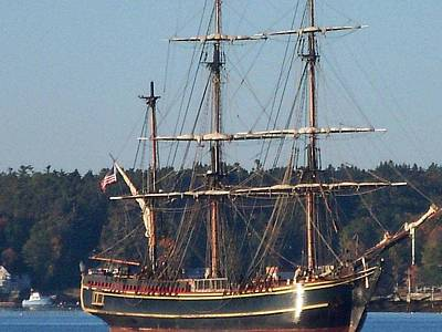Maine Bounty Photograph - Coming In For Repairs by Nancy  Pillers