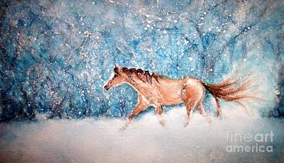 Bright Watercolor Portrait Bright Watercolor Painting - Coming Home by Janine Riley